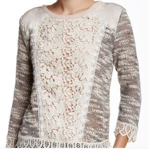 Anthropologie Champagne and Strawberries Sweater L